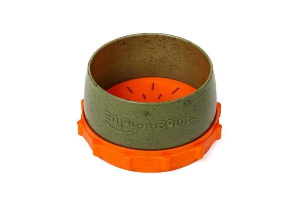 Enjoy-A-Bowl Army Orange : Three